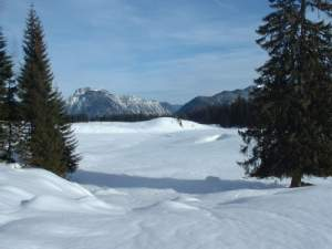 Skigebiet in den Tuxer Alpen